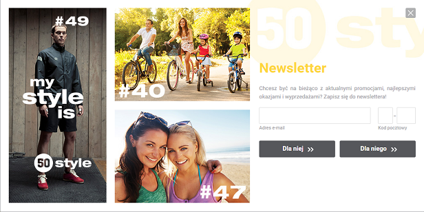 50 style - newsletter