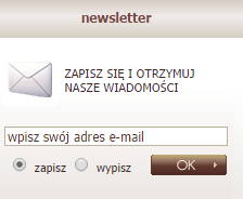 VIP Collection - zapis na newsletter