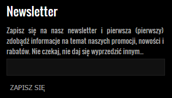carlena.pl - newsletter