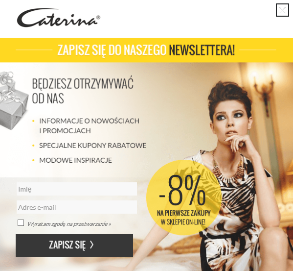 Caterina.pl - newsletter