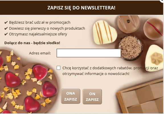 Chocolissimo - newsletter