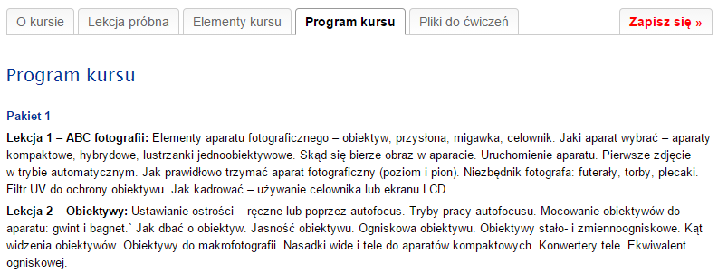 ESKK.pl - program kursu