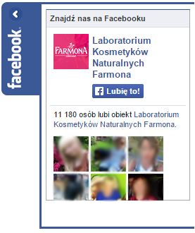 Farmona.pl - facebook widget