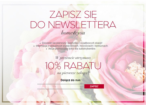 Home & You - zapis na newsletter