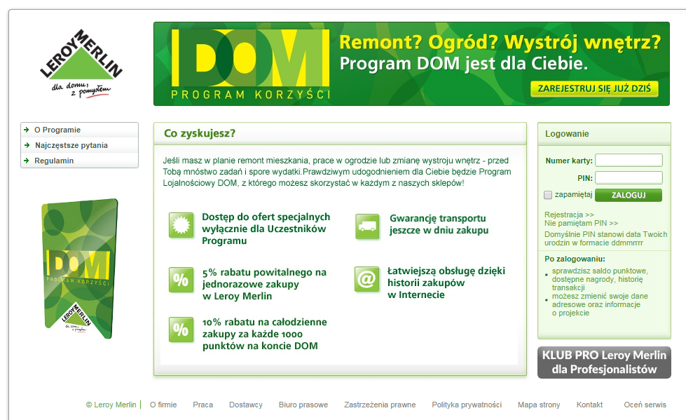 LeroyMerlin.pl - program DOM