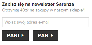 Sarenza - newsletter