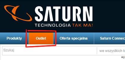 Saturn.pl - outlet